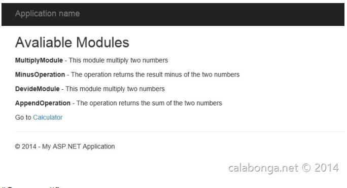 Plugins for ASP NET MVC based on Autofac modules